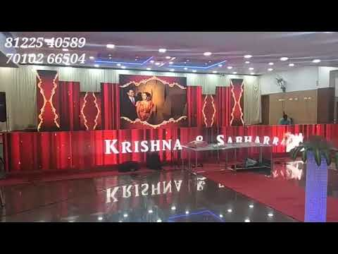 LED Digital Wedding Marriage Reception Event Decoration Chennai , Bangalore , Andhra , Neyveli , Vellore India +91 8122540589 (WA)