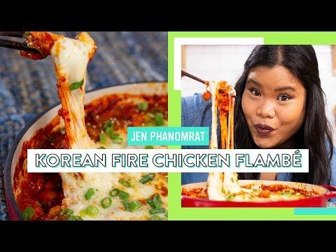Korean Fire Chicken Flambé | Good Times With Jen