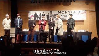 [ENG SUB] 171118 Gangnam Fansign: MONSTA X 1st Win Behind Story