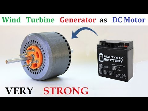 Run 24v 30 Amps PMG Alternator as Brushless DC Motor with UPS Battery & BLDC Controller
