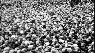 Large group of Provisional Government supporters gathered against its inefficienc...HD Stock Footage