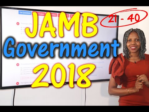 JAMB CBT Government 2018 Past Questions 21 - 40