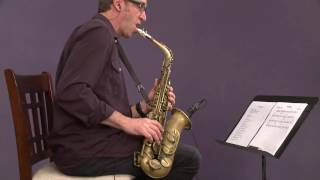 "Jazz Saxophone with Eric Marienthal: Soloing over ""Blue Bossa"""