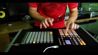 "Novation Launchpad, Maschine ""Stayin' Alive"" Live Remix"