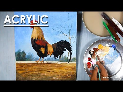 Acrylic Painting : How to Paint A Rooster/Cock