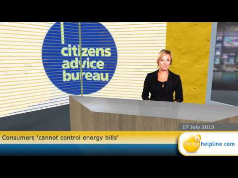 Consumers 'cannot control energy bills'