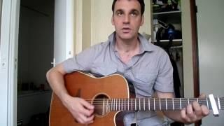 Un homme debout - Claudio Capeo - comment jouer tuto guitare YouTube En Français