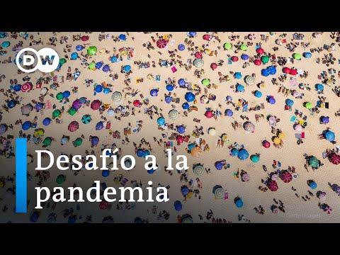 Playas abarrotadas en plena pandemia