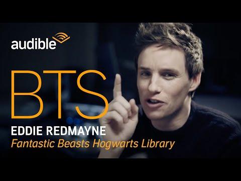 Behind the Scenes with Eddie Redmayne, narrator of the Fantastic Beasts Hogwarts Library audiobook