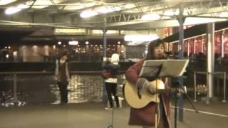 翻唱林奕匡  高山低谷- Josy cover @Star Ferry Pier TST (07022015 )