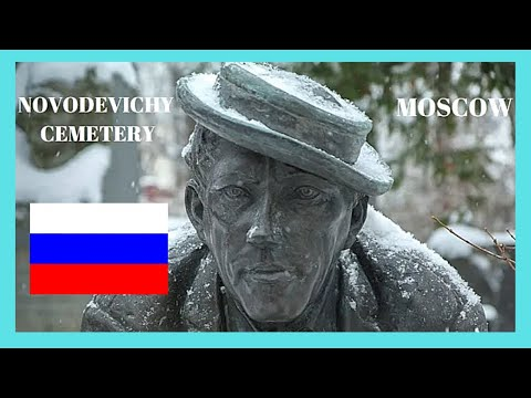 MOSCOW, the historic and spectacular NOVODEVICHY CEMETERY, RUSSIA