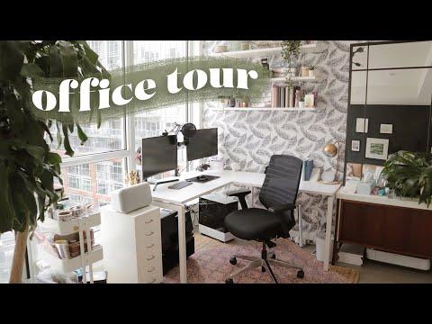 My NEW Office Tour! *desk + stationery organization*