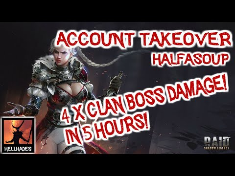 RAID: Shadow Legends | Half A Soup Account Takeover, 4XCB Damage, ARENA Nuke, Spider progression!