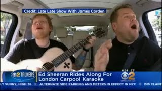 Ed Sheeran Rides Along For London Carpool Karaoke