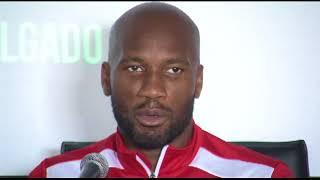 Didier Drogba brindó una rueda de prensa previo al LDU (Q) vs Phoenix Rising