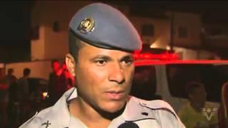 Carro capota apos perseguição policial no bairro Tude Bastos Praia Grande