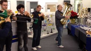 Flight of the Bumblebee  performed by Canadian Brass live at Rieman Music