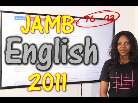 JAMB CBT English 2011 Past Questions 76 - 93