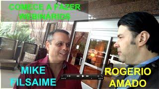 Mike Filsaime (Fundador do WebinarJam) Recomenda Rogerio Amado como Especialista em Webinarios
