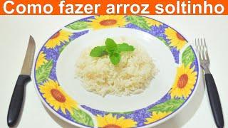 COMO FAZER ARROZ SOLTINHO / Arroz mais fácil do mundo com apena 3 ingredientes
