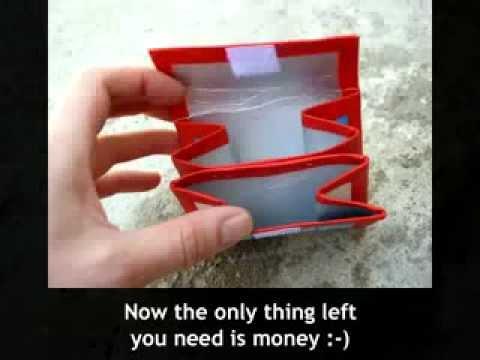Kendin Yap / KendinYapSitesi.com / #443 / Tetrapak Süt kutularından cüzdan yapımı