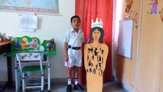 First prize winning Show and tell@DPS SMVDU Katra by Kartikeya about MOTHER