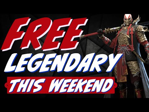 Free legendary this weekend. BEWARE fusion starts April 13th. Raid Shadow Legends