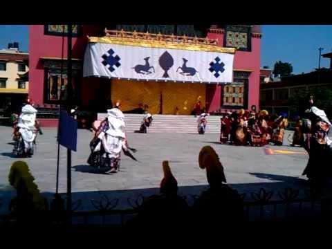 Cham dance for Losar at Sechen Monastery, Boudha, Kathmandu, Nepal – February 2012 – 2/3