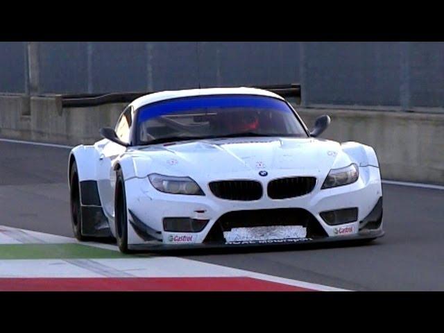 2 x BMW Z4 GT3 Pure V8 Engine Sound
