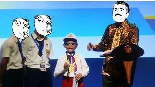 LUCU dan Kocak, Bocah SD salah ngomong ikan tongkol pada Presiden Jokowi. THUG LIFE