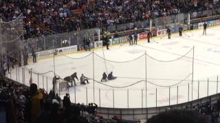 Steve O gets shot at by pucks at Carrier Dome in Syracuse NY pt. 1