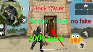 Free fire clock tower secret door in Hindi || free fire