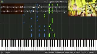 Boku no Hero Academia 3rd Season Ending 1 - Update (Synthesia)