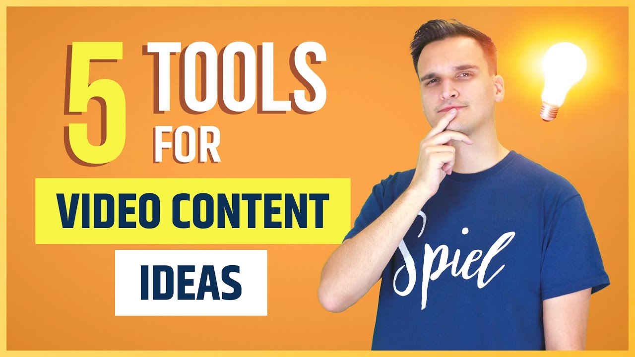 5 Amazing Tools To Help You Generate Video Content Ideas