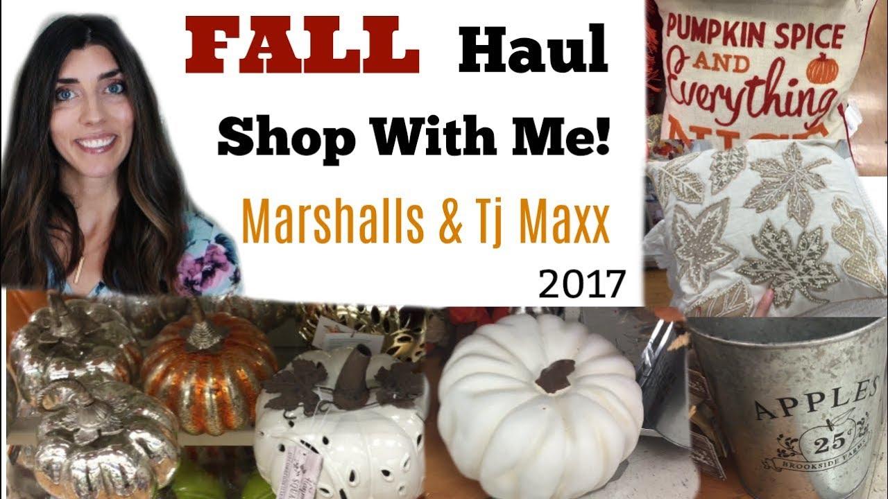 Fall Shop With Me Marshalls & TJMaxx \\ Fall Home Decor 2017
