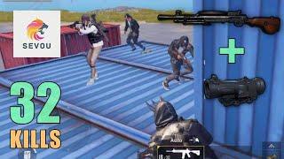 DP-28 + 6x Scope MADNESS!!!   32 SOLO KILLS   PUBG Mobile