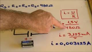 Intensidade da corrente elétrica na associação de resistores em série !