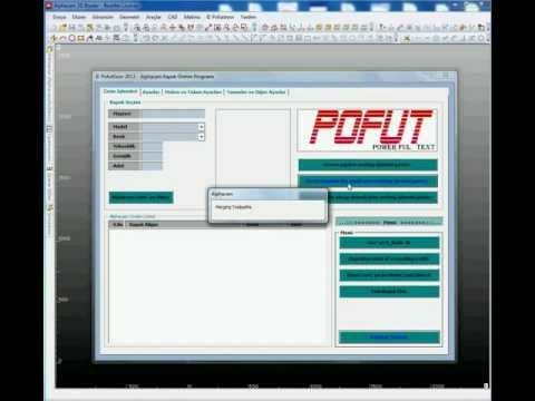 Alphacam - PofutDoor ile Membran kapak üretim programı ( 2 )