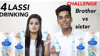 4 LASSI CHALLENGE DRINKING COMPETITION [ FOOD CHALLENGE INDIA ] COLLAB WITH NEHALPATHAK