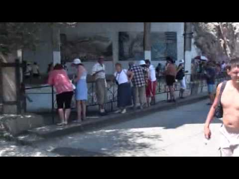 07-25-2010 Part 21 of 31 – Entrance to submarine base in Balaklava, Crimea, Ukraine.wmv