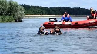Auto w jeziorze!! XX Regaty o Błękitną Wstęgę Zalewu Jeziorsko 2014