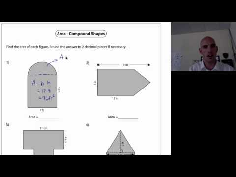Compound Area Worksheets Jobs Ecityworks Math aids compound shapes