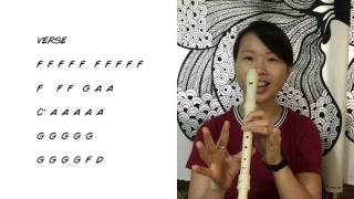 Shape Of You PART 1 Tutorial How To Play (recorder/flute)