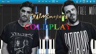 The Chainsmokers & Coldplay- Something Just Like This | PIANO Tutorial/Synthesia/Instrumental