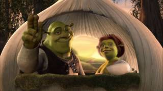 Shrek: I'm A Believer but every time they say Believer it gets louder and more distorted.