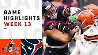 Browns vs. Texans Week 13 Highlights   NFL 2018