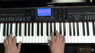 Love is Blue, Cover played on Keyboard (Yamaha CVP), Die Taste part 5
