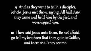 Matthew Chapter 28 KJV AV Read Along