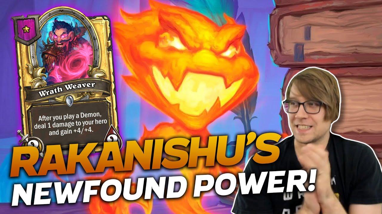Savjz - Rakanishu's Newfound (Buffed) Power! | Hearthstone Battlegrounds | Savjz