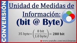 Convertir de Bit a Byte - (bit a B)